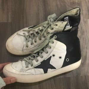 Golden goose Francy 37 black and white sneakers